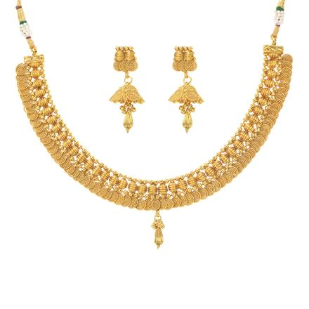 11290 Antique Plain Gold Necklace