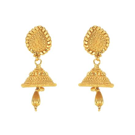 11291 Antique Delicate Earring with gold plating