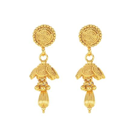 11292 Antique Delicate Earring with gold plating