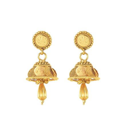 11293 Antique Temple Earring with gold plating