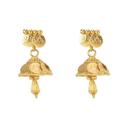 11294 Antique Temple Earring with gold plating