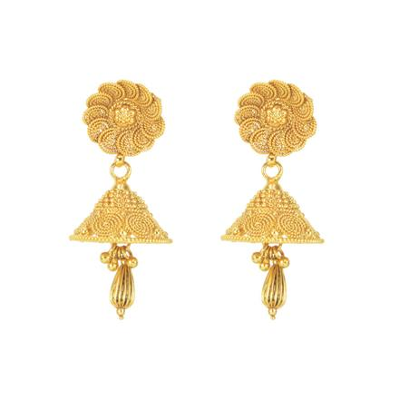 11295 Antique Delicate Earring with gold plating