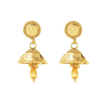 11297 Antique Temple Earring with gold plating