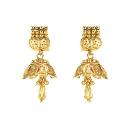 11298 Antique Temple Earring with gold plating