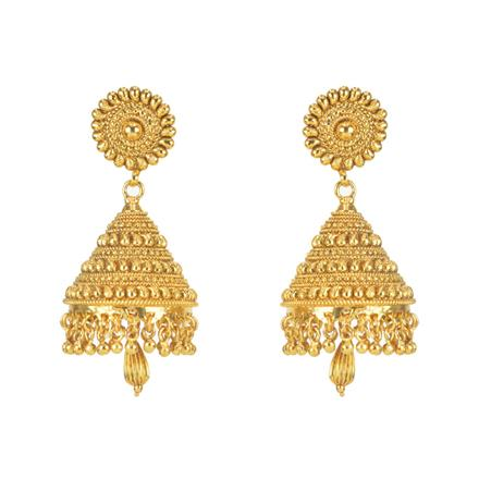11299 Antique Jhumki with gold plating