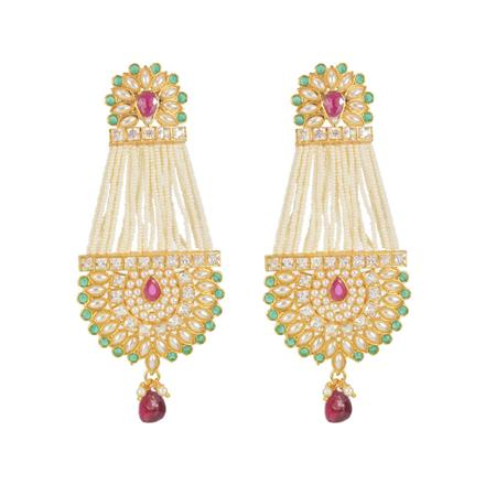11307 Antique Long Earring with gold plating