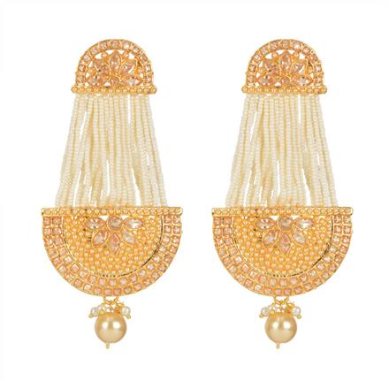 11308 Antique Chand Earring with gold plating