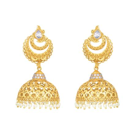 11325 Antique Jhumki with gold plating