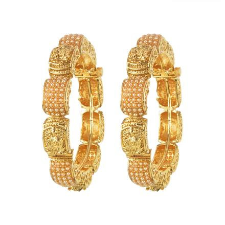 11335 Antique Temple Bangles with gold plating
