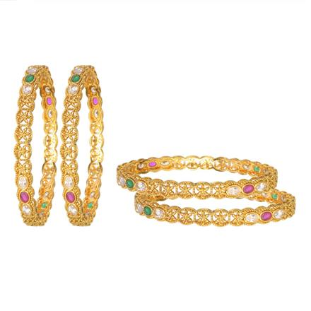 11337 Antique Classic Bangles with gold plating
