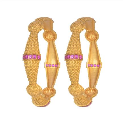 11350 Antique Classic Bangles with gold plating