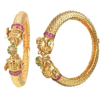 11351 Antique Openable Bangles with gold plating