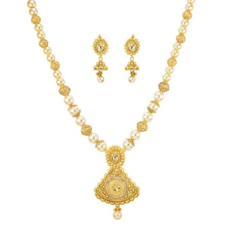 11390 Antique Mala Pendant Set with gold plating