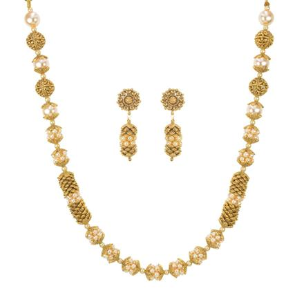 11394 Antique Mala Necklace with gold plating