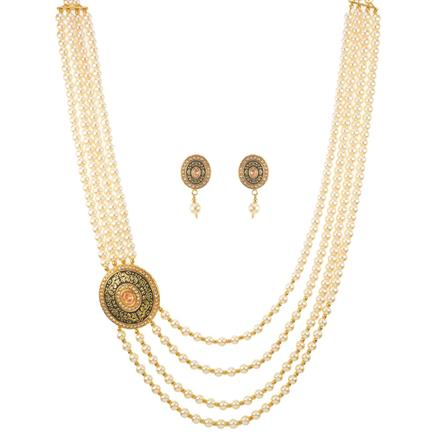 11395 Antique Mala Necklace with gold plating