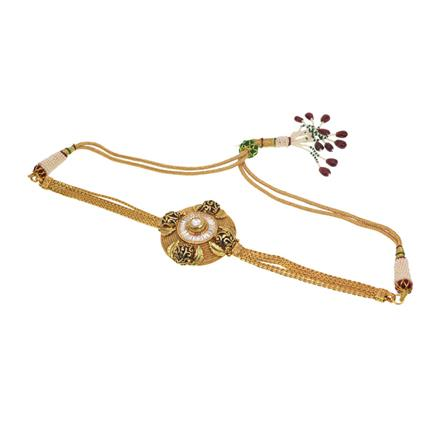 11396 Antique Classic Baju Band with gold plating