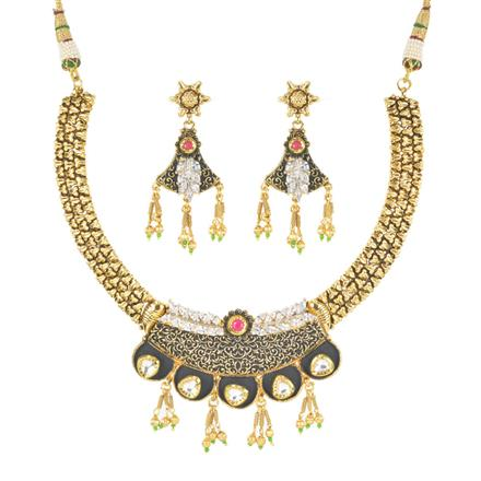 11399 Antique Classic Necklace with gold plating