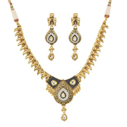 11400 Antique Classic Necklace with gold plating