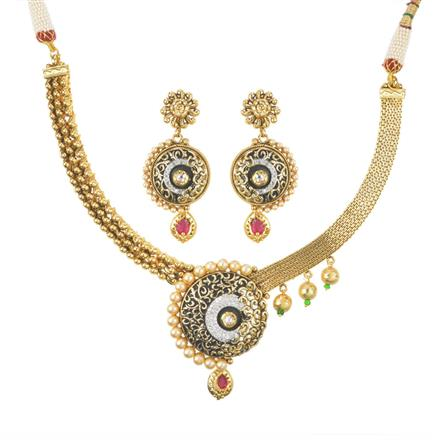 11401 Antique Classic Necklace with gold plating