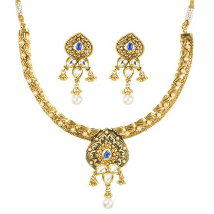11402 Antique Classic Necklace with gold plating