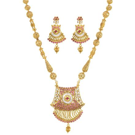 11407 Antique Mala Pendant Set with gold plating