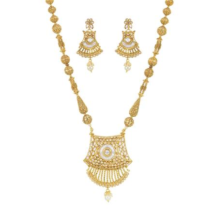 11408 Antique Mala Pendant Set with gold plating