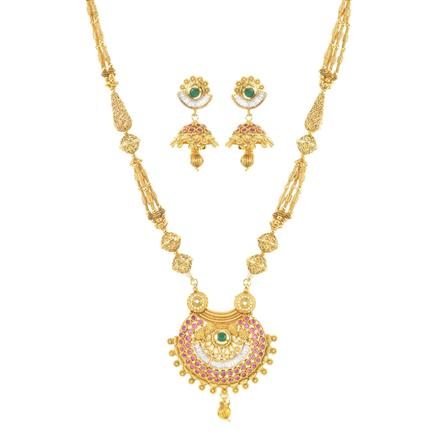 11409 Antique Mala Pendant Set with gold plating