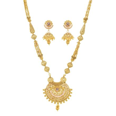11410 Antique Mala Pendant Set with gold plating