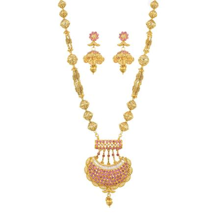 11411 Antique Mala Pendant Set with gold plating