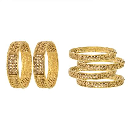 11413 Antique Classic Bangles with gold plating