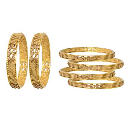 11414 Antique Classic Bangles with gold plating