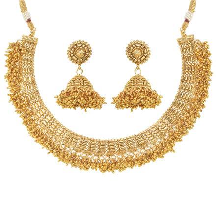 11415 Antique Plain Gold Necklace