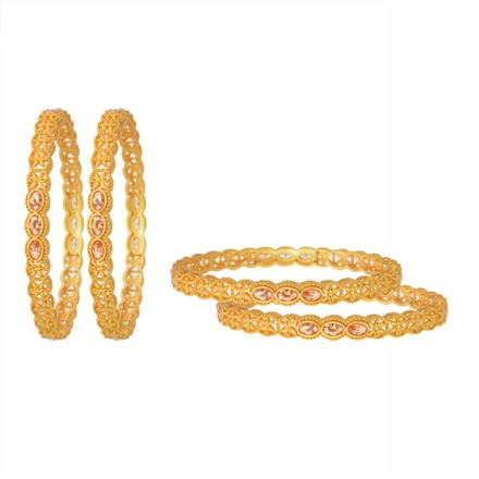 11424 Antique Classic Bangles with gold plating