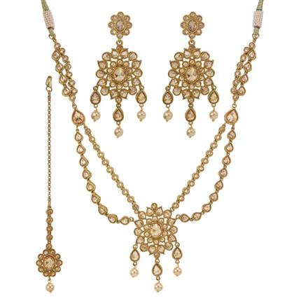 11431 Antique Classic Necklace with mehndi plating