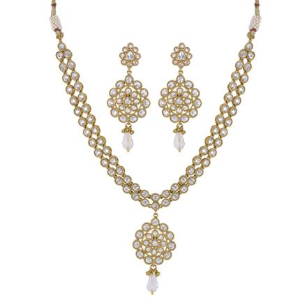 11432 Antique Classic Necklace with mehndi plating