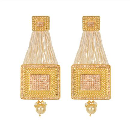 11433 Antique Classic Earring with gold plating
