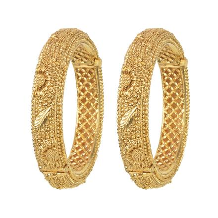 11434 Antique Openable Bangles with gold plating
