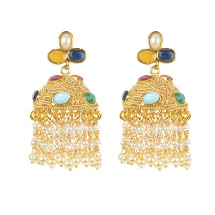 11443 Antique Jhumki with gold plating