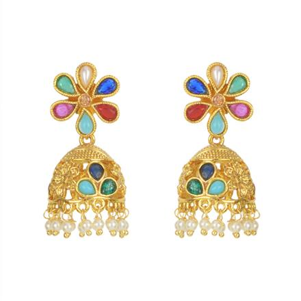 11445 Antique Delicate Earring with gold plating