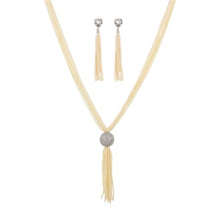 11448 Antique Mala Pendant Set with gold plating