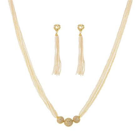 11449 Antique Mala Pendant Set with gold plating
