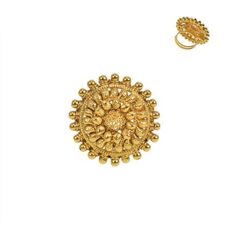 11452 Antique Plain Gold Ring
