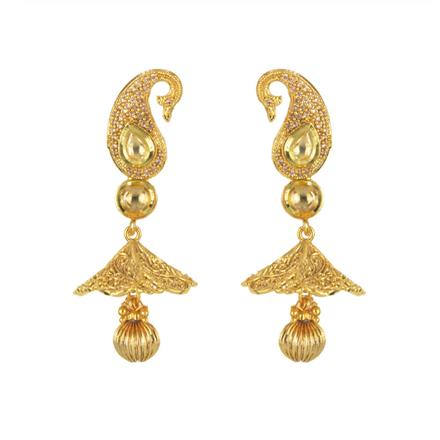 11454 Antique Fusion Earring with gold plating