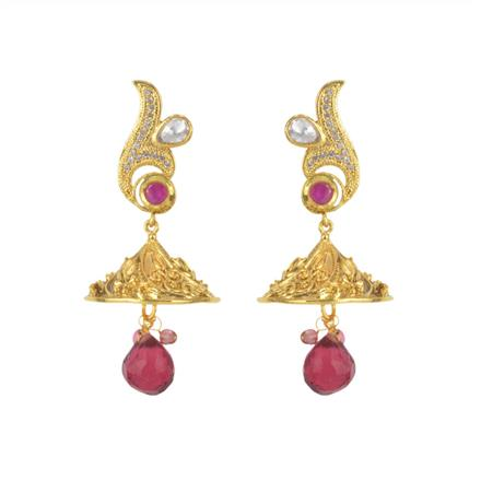 11455 Antique Fusion Earring with gold plating