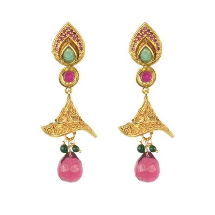 11456 Antique Fusion Earring with gold plating