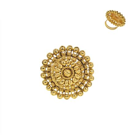 11457 Antique Plain Gold Ring