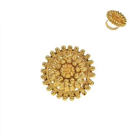 11458 Antique Plain Gold Ring