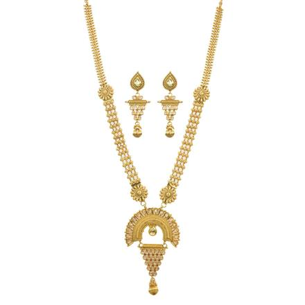 11459 Antique Long Necklace with gold plating
