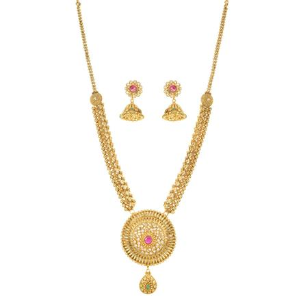 11460 Antique Long Necklace with gold plating