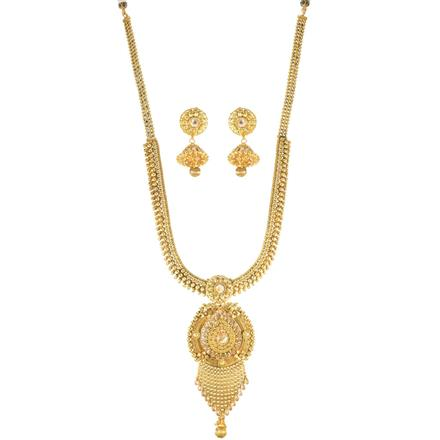 11461 Antique Long Necklace with gold plating